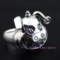 Thailand imports, Japan with a cartoon pig teeth Silver Ring