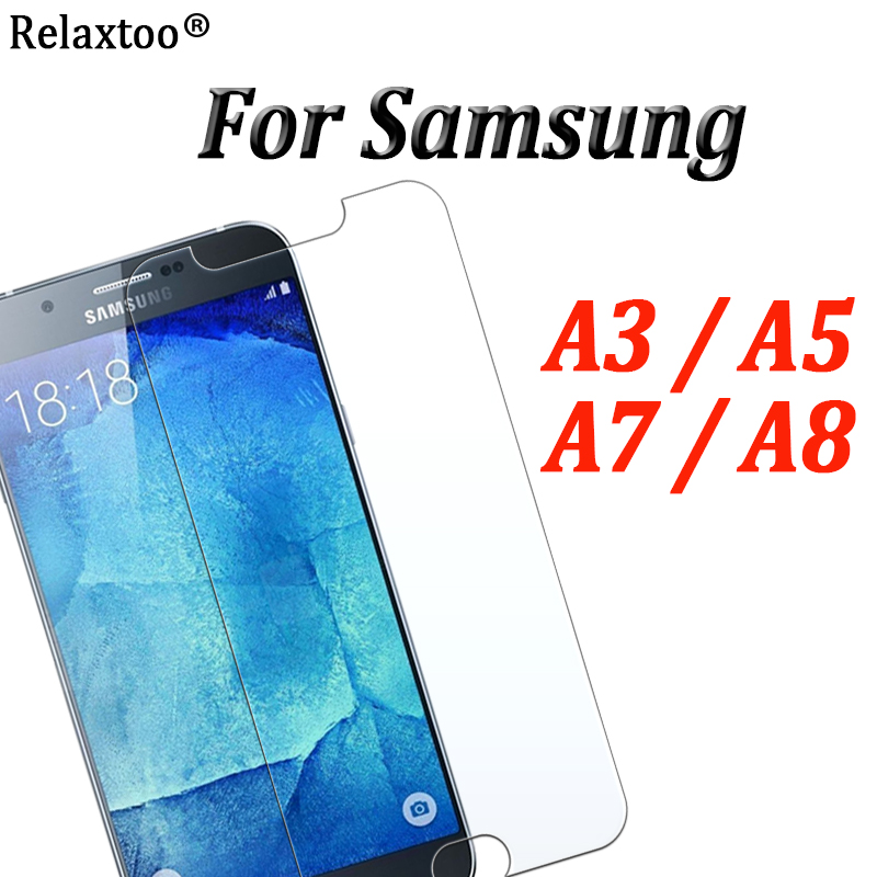 For <font><b>Samsung</b></font> galaxy a5 <font><b>glass</b></font> for <font><b>samsung</b></font> a8 screen protector Sumsung a3 5 <font><b>7</b></font> 8 protective film 2.5D tempered glas 9h protection image