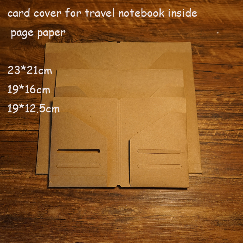 New 2016 Kraft Paper Card Cover For Traveler Notebook Filler Paper Can Pack Card And Other In Notebook Spiral School Supplies