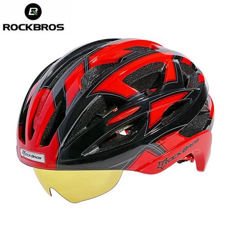 RockBros Cycling Helmet MTB Mountain Road Bike Helmet Bicycle Helmet 32 Air Vents With 3 Lenses Mountain Bike Equipment west biking bike chain wheel 39 53t bicycle crank 170 175mm fit speed 9 mtb road bike cycling bicycle crank