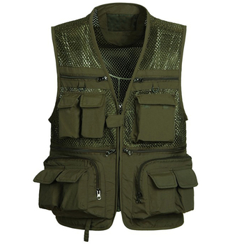 Mens Vest Large Chest Waistcoat Multi-pocket Colete Free Shipping European and American Style Mens Work Vests Outerwear S2786