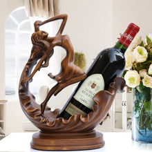 OUSSIRRO Creative Crafts Resin Red Wine Holder Frame Horse Deer Antlers Room Decoration Cattle Porcelain Animal Figurines