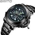 2017 GIMTO Top Brand Watches Men Business Quartz Watch Luxury Full Steel Male Boy Military Wristwatch Clock Hour Relojes Hombre