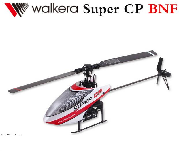 Original Walkera Super CP BNF 6CH Flybarless 3D RC helicóptero projetado para iniciantes com bateria + carregador sem transmissor