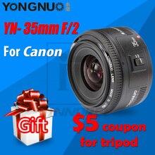 Объектив YONGNUO YN 35 мм F2, объектив 1:2 AF/MF с широкоугольным фиксированным фокусом/широкой диафрагмой с автоматическим зумом для камеры Canon EF EOS
