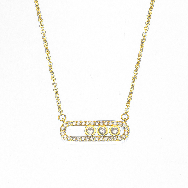 Dainty Gold Color Disc Coin Choker Beads Charms Necklaces Jewelry Simple Chain Luxury Vintage CZ Crystal Colorful Necklace Women