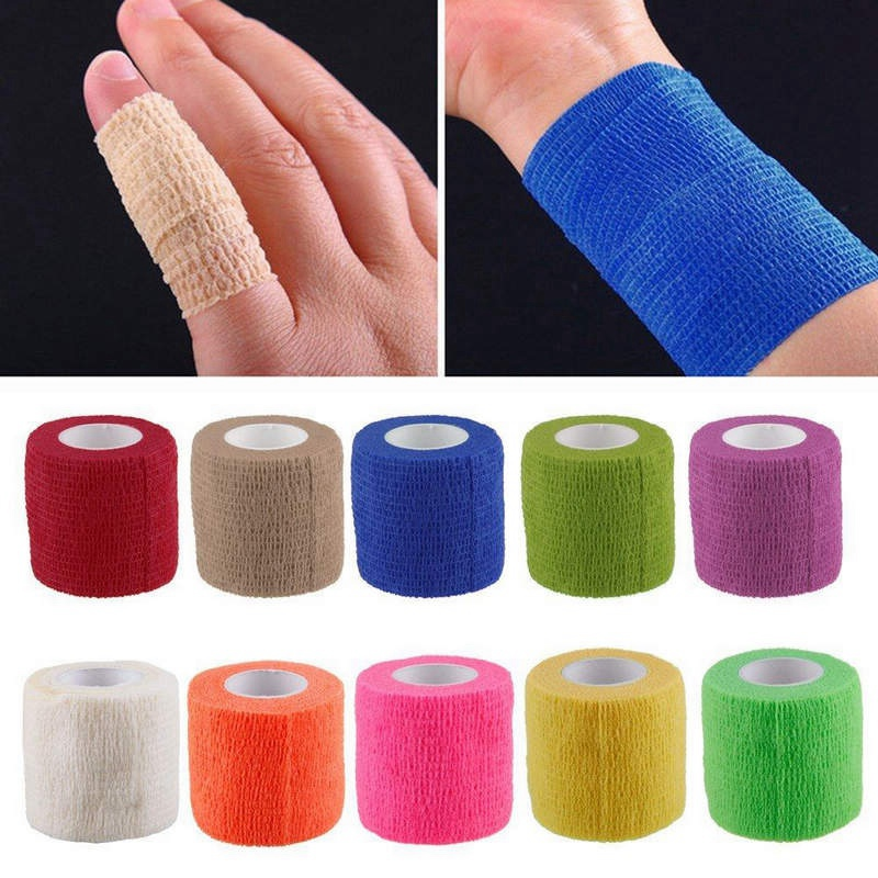 4.5m Non Woven Fabric Adhesive Bandage Wrap Kinesiology Self-Adhering Bandage Wraps Elastic Handguard First Aid Tape Stretch ゲーム ポート ピン