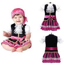 Ropa de bebé niña encantadora nueva bebé capitán pirata Halloween niñas  conjunto de niños traje de baile Cosplay niño 2 unidades. ca12ed7a13d