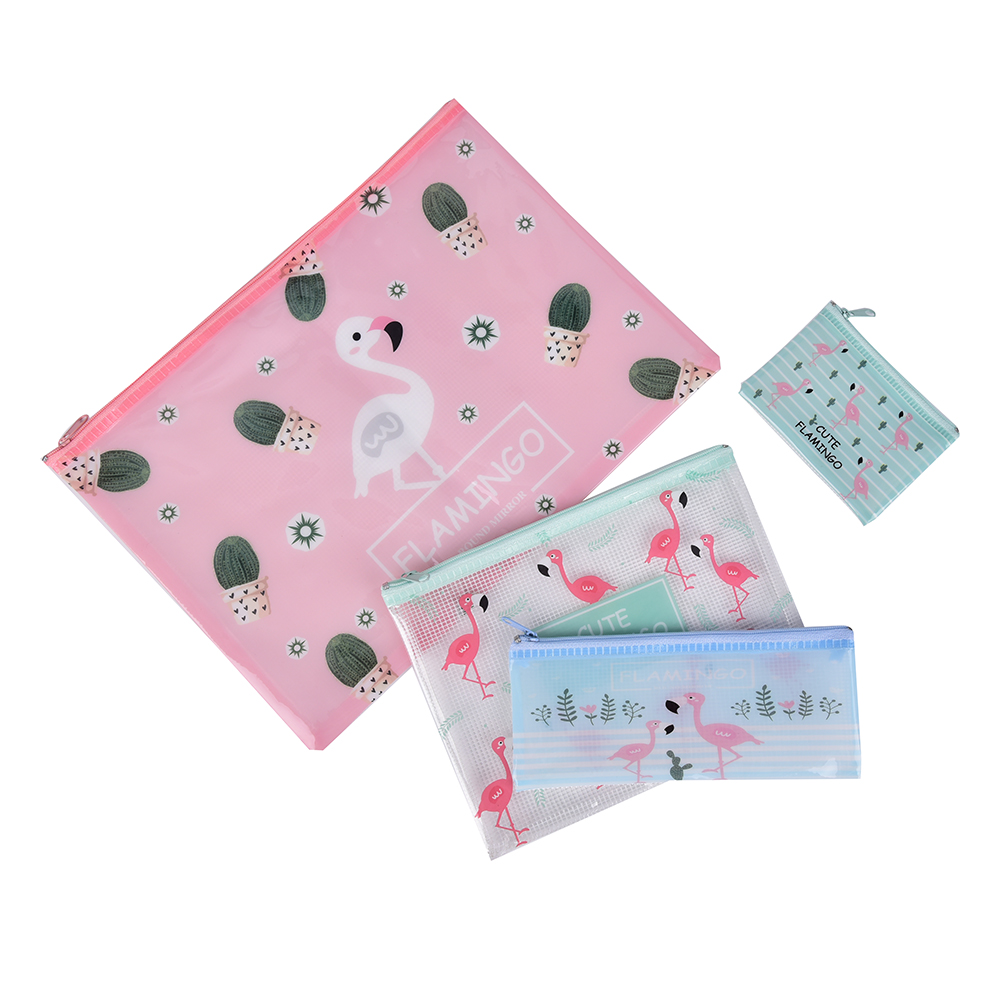 Lovely Flamingo A4 A5 B6 File Bag Document Bag A4 File Folder Pencil Bags Stationery Filing Production