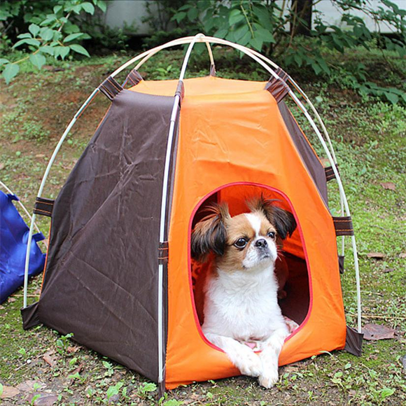 AOTU Portable Folding Pet Tent Dogs Cats Bed House Play Fun Indoor Outdoor Waterproof ventilation Shading sun protect Tent C0510