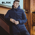 OLRIK 2016 Brand New Men Cotton Down Coat Parkas Winter Jackets Coats Long Regular Men's Clothing Winter Overcoats M-4XL Size