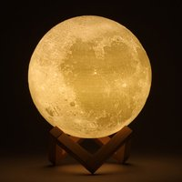 5 шт. 12 см Роман 3D полная луна в форме светодиодный свет Магическая Indoor Спальня чтения лунный лампы