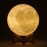 5pcs 12CM Novel 3D Full Moon Shaped LED Light Magical Indoor Bedroom Reading Lunar Lamp