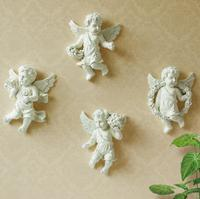 4PCS/Set European 3D Little Angels Resin Wall Stickers Home Furnishing resin TV background wall decoration 3D Resin hangings
