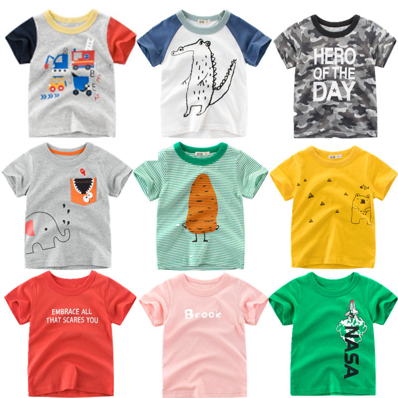 Cartoon Print Baby Boys Car T Shirt For Summer Infant Kids Boys Girls Letter T Shirts Clothes Cotton Toddler Clothing|T-Shirts| - AliExpress