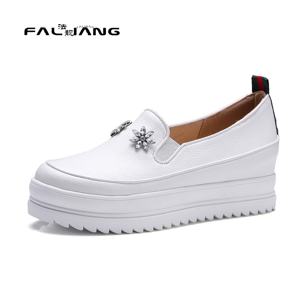 Big Size 11 12 Spring/Autumn Fashion Flower Round Toe Casual Wedges Women's Shoes Pumps Woman For Women Platform Shoes new flock high big size 11 12 women shoes wedges pointed toe woman ladies butterfly knot casual spring autumn sweet single shoes