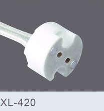 10pcs/lot, MR16 MR11 GU5.3 G5.3 lamp base connector cable, MR16 lamp Socket base MR16 lamp fitting fix holder 10cm Silicon cable