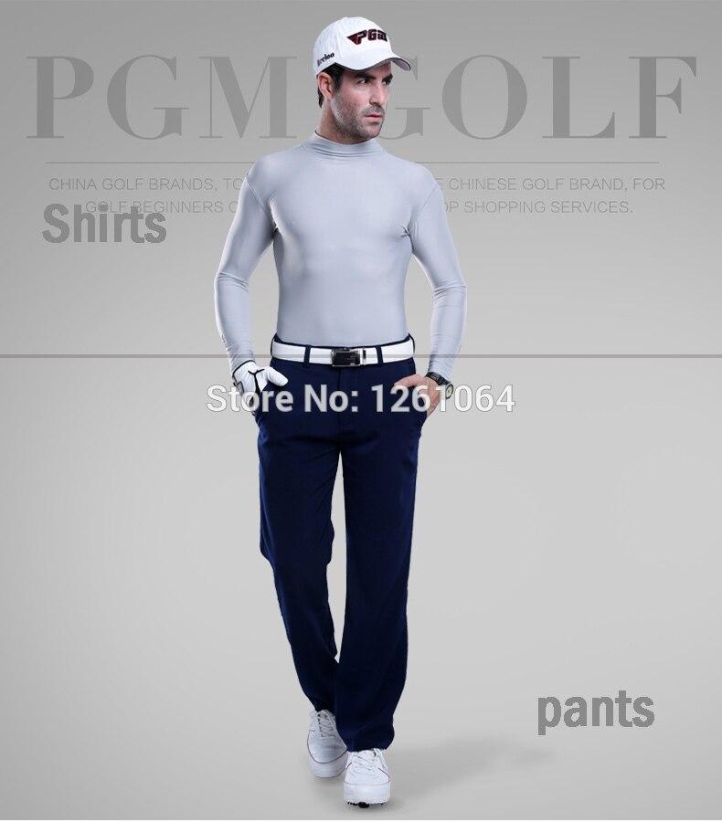 PGM Men golf cloth UV protection sun shirt ice tights t shirt spring summer T-shirt polo underwear shirts