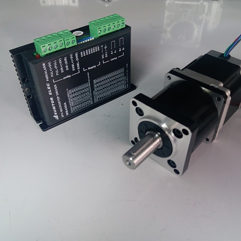 Ratio 100:1 NEMA23 84mm Motor 2.2NM 320Oz-in 3A 4 Wires driver kits stepper motor with Planetary gearbox Speed  reducer for CNCRatio 100:1 NEMA23 84mm Motor 2.2NM 320Oz-in 3A 4 Wires driver kits stepper motor with Planetary gearbox Speed  reducer for CNC