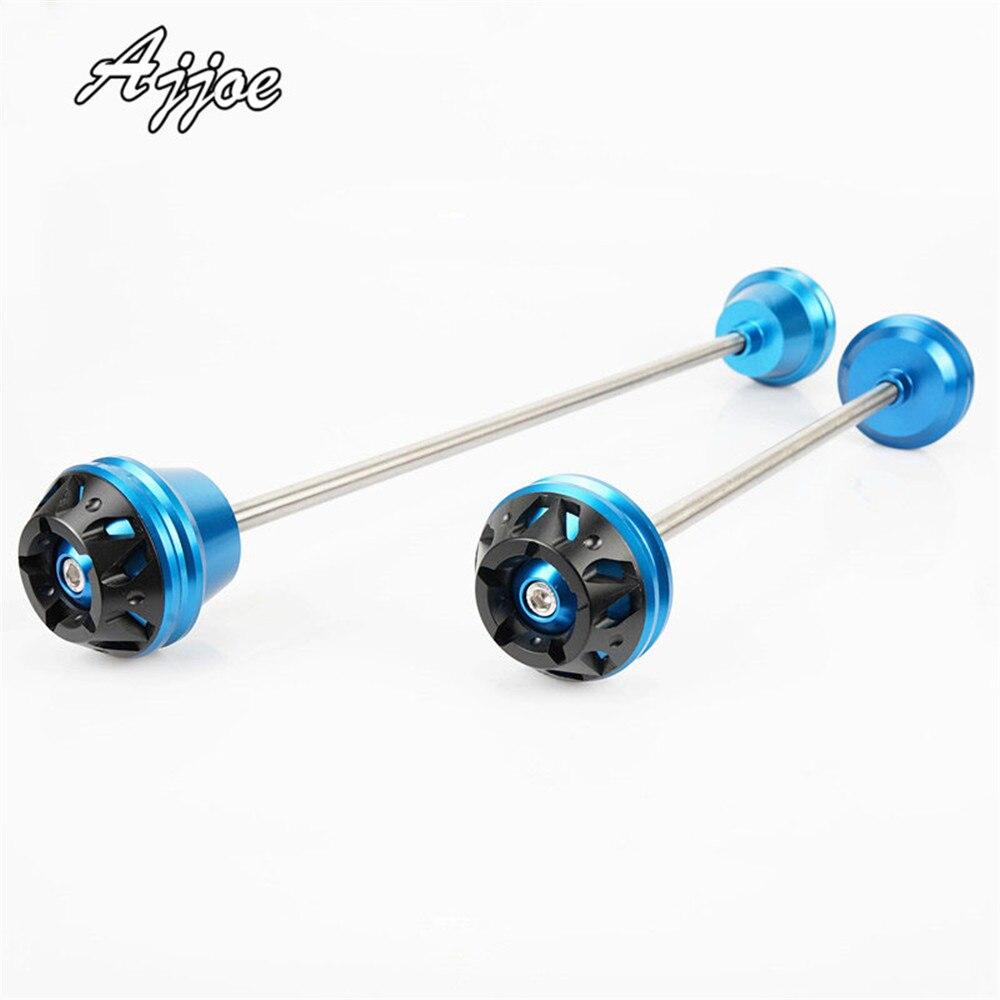 2 PCS Front & Rear Wheel Fork Axle Sliders Cap Crash Protector For GSXR600 GSX-R600 GSXR750 GSX-R750 14-15 GSX-S1000 01-16