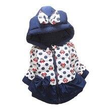 НОВЫЕ куртки для девочек модная одежда с рисунком Минни Маус, пальто Зимняя теплая и Повседневная Верхняя одежда для маленьких девочек возрастом от 1 года до 5 лет, детские куртки