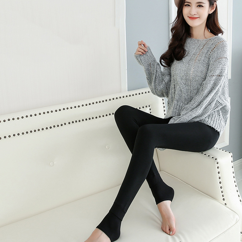 2pcs Thermal Velvet Lined Pantyhose Foot Tights Lady Seamless Pantyhose Stockings Tight Solid Coloe Female Elastic Collant Femme