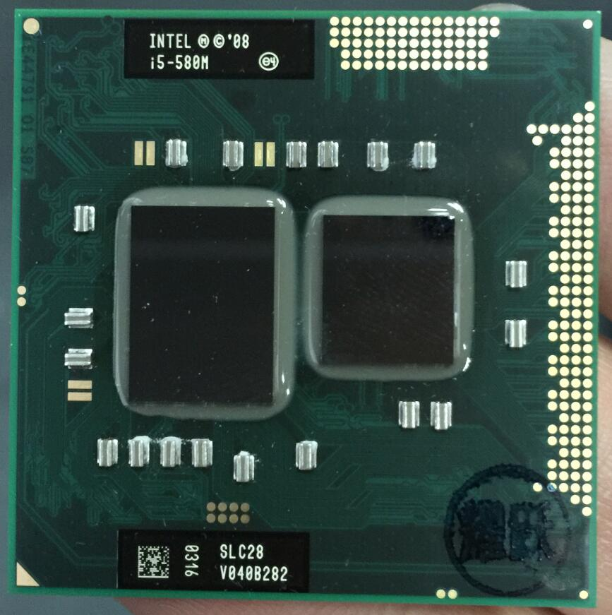 Procesador Intel Core i5 i5-580M 580 M ordenador portátil CPU PGA988 cpu 100% funciona correctamente