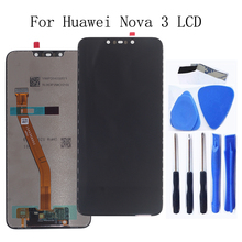 6.3-inch Original LCD display For Huawei Nova 3 LCD touch screen digital converter replaced for Huawei Nova3 display parts+Tools pegasus tianm genuine original 3 5 inch lcd screen tm035kvhg01