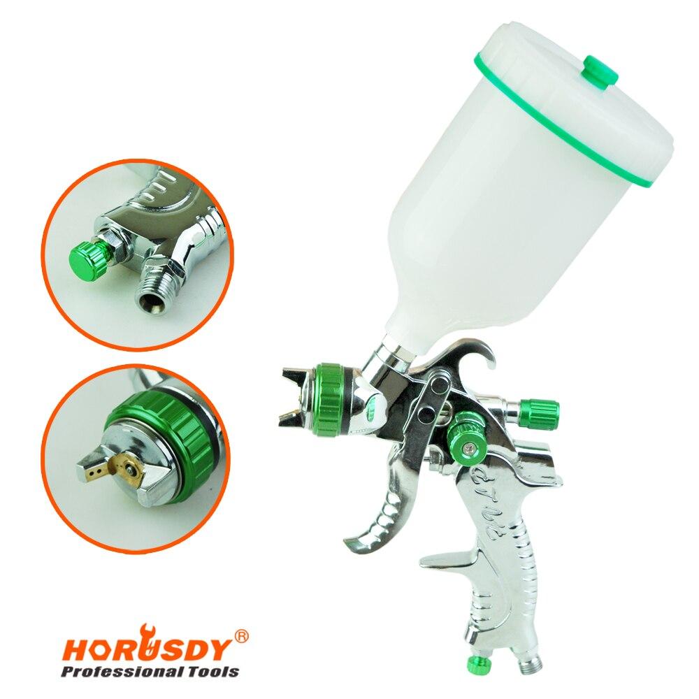 HORUSDY 680ml Spray Paint Gun Gravity Feed HVLP Nozzle Tips 1 3mm Paint font b Tool