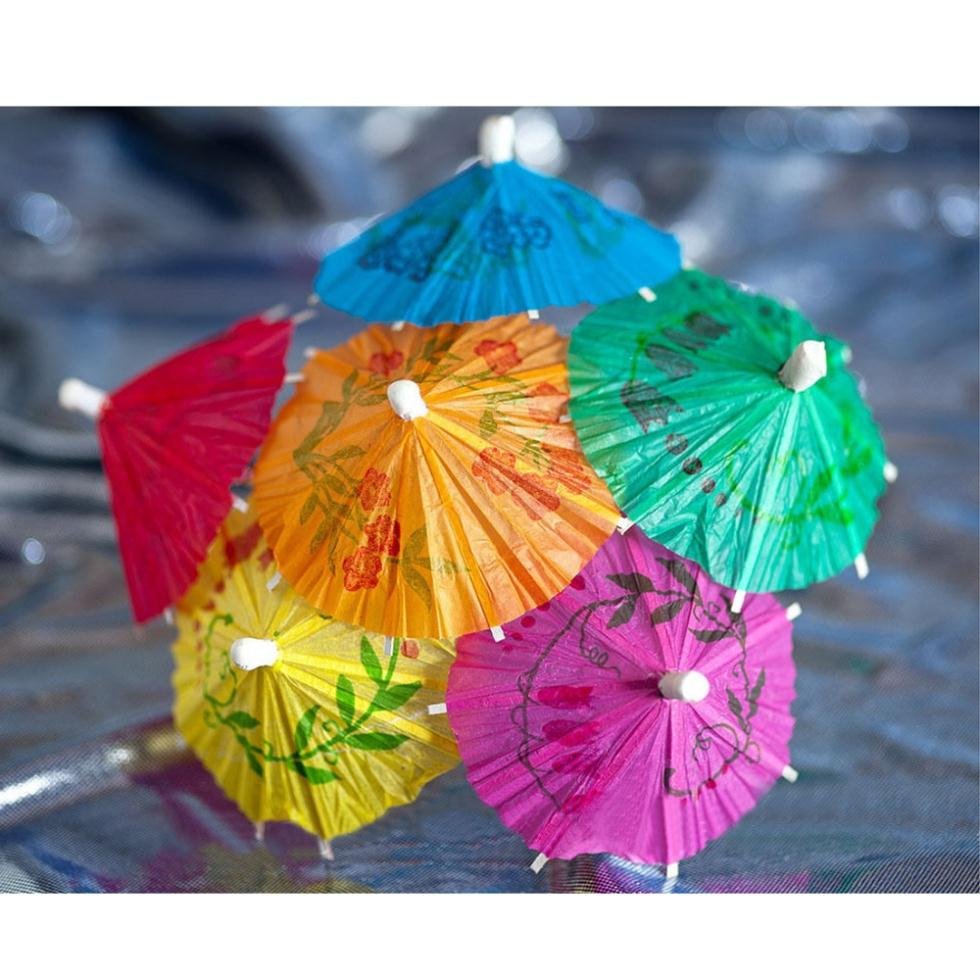30 Pieces Retro Mixed Color Mini Paper Umbrellas For Cake Drinks Accessories Tail Event Party Supplies In Decorating From Home