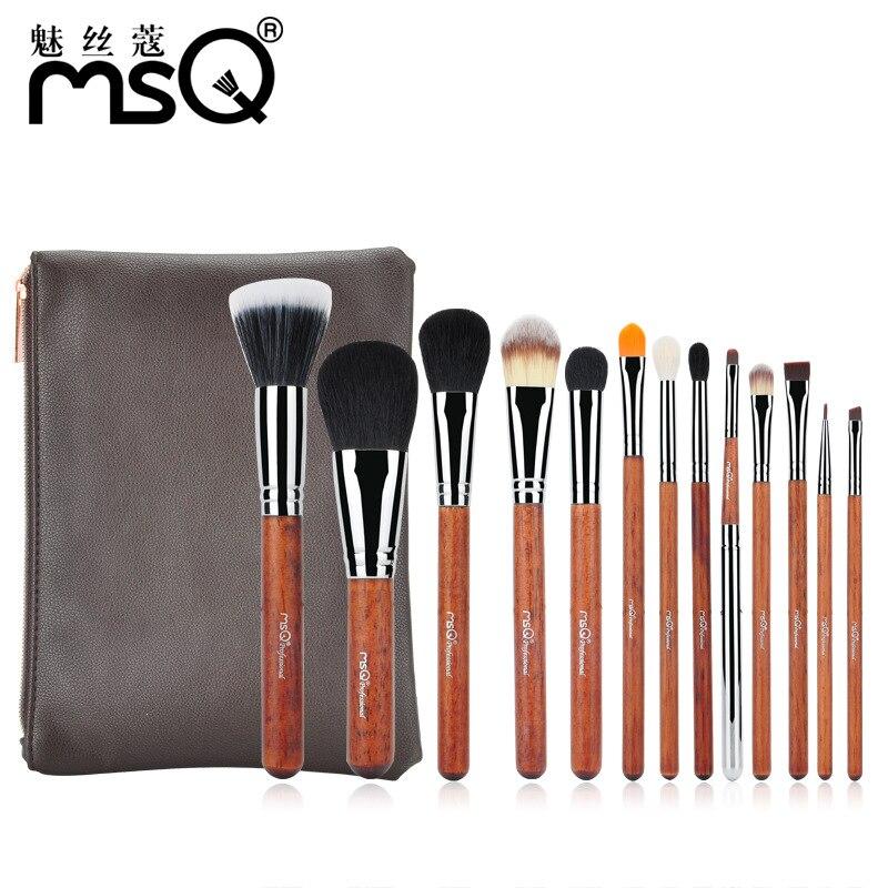 13 Pcs Professional Makeup Brush Sets Soft Goat Hair Brand Foundation Power Eyeshadow Blush Brushes Kits Pu Leather Cosmetic Bag