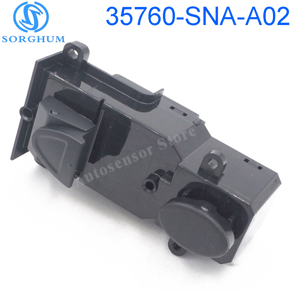 New SORGHUM 35760-SNA-A02 35760SNAA02 5PIN 8PIN Front Right Side Power Master <font><b>Door</b></font> Window Switch For Honda <font><b>Civic</b></font> 2005-2011 image
