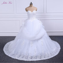 JULIA KUI Elegant Strapless Wedding Dress With Court Train