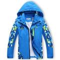 Новая Коллекция Весна Осень Детей мальчика Куртки Пальто Дети Активные одежда двухэтажные Водонепроницаемый Ветрозащитный Мальчики outwears Высокое Качество