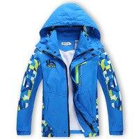 Yeni Bahar Sonbahar Çocuk çocuğun Ceketler Mont Çocuklar Aktif giyim Çift katlı Su Geçirmez Rüzgar Geçirmez Erkek outwears Yüksek Kalite
