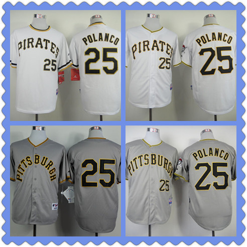 hot sales ae4a3 a11c1 US $24.88 |2015 #25 Cool Base Pittsburgh Pirates Gregory Polanco jersey  black 3XL,baseball throwback mens authentic stitched cheap shirts P-in ...