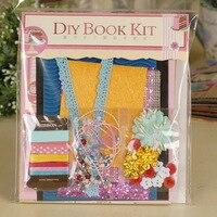 Vintage DIY Handmade Mini Book Photo Album Kit Accessories Scrapbooking Photo Album Kit for Wedding