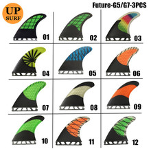 Surf Future G5/ G7 Fins Fibreglass Colorful Quilhas Surfboard Honeycomb Fin Surfing