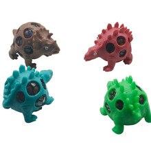 Kids Toys Autism Fidget Dinosaur Anti-Stress Mesh-Ball Gifts Relief Squeeze Grape