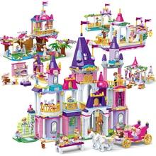 Новая принцесса серии замок вечерние строительные блоки наборы Legoes Кирпичи Классические Дети девочка подарки модель игрушки друзья