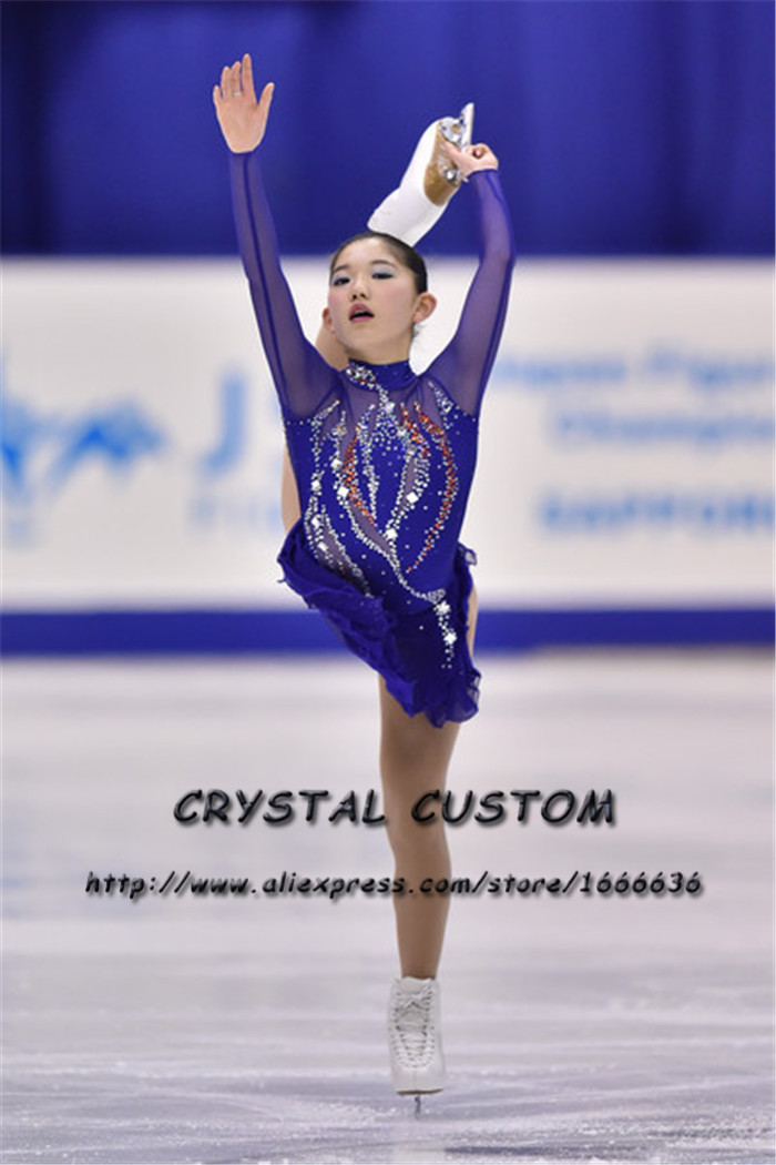 Professional Custom Figure Skating Dresses Adult Graceful New Brand Ice Skating Dresses For Competition DR4490