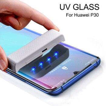Перейти на Алиэкспресс и купить Lamorniea для Huawei P30 Pro защита экрана УФ стекло для Huawei Mate 20 Pro стеклянная пленка P20 Pro P20 Lite Mate 20 30 протектор