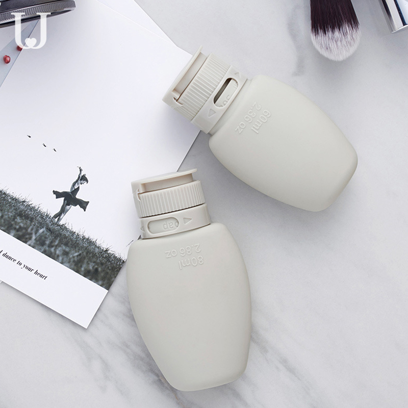 80ML/60ML Silicone Refillable Bottles Traveler Packing Lotion Points Shampoo Container Press Bottles