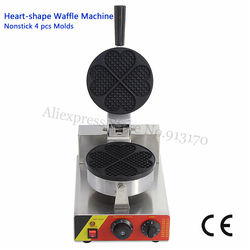 Nonstick Heart-shaped Waffle Maker Commercial Waffle Machine 5 Leaf Heart Moulds 220V/110V 1500W