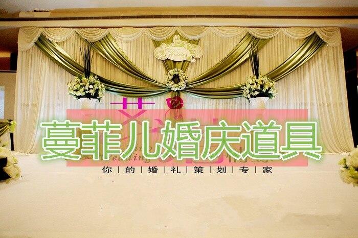 Toile de fond de mariage drapé avec swag 10x20ft toile de fond de mariage rideaux toile de fond pour les mariages