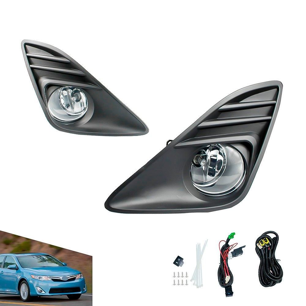US Version! 2012~2014 Camry fog light,Free ship!halogen,Camry headlight,vigo,Hiace,tundra,hilux,yaris;Camry day lamp