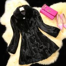 Free shipping new real/genuine mink fur coat women whole skin mink fur jacket