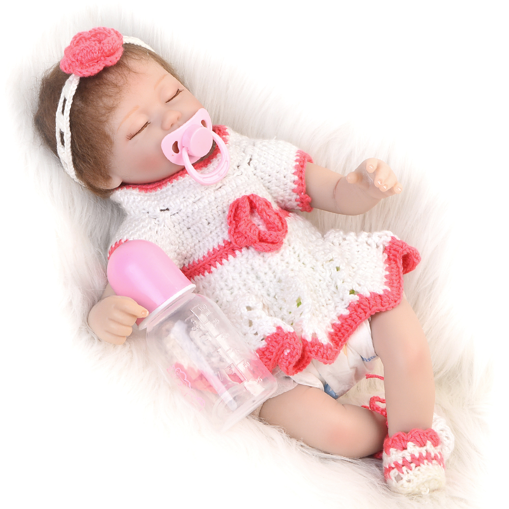 17inch 42cm reborn newborn realistic closed eyes new design adorable menina boencas for sale play house toddlers bedtime toy17inch 42cm reborn newborn realistic closed eyes new design adorable menina boencas for sale play house toddlers bedtime toy
