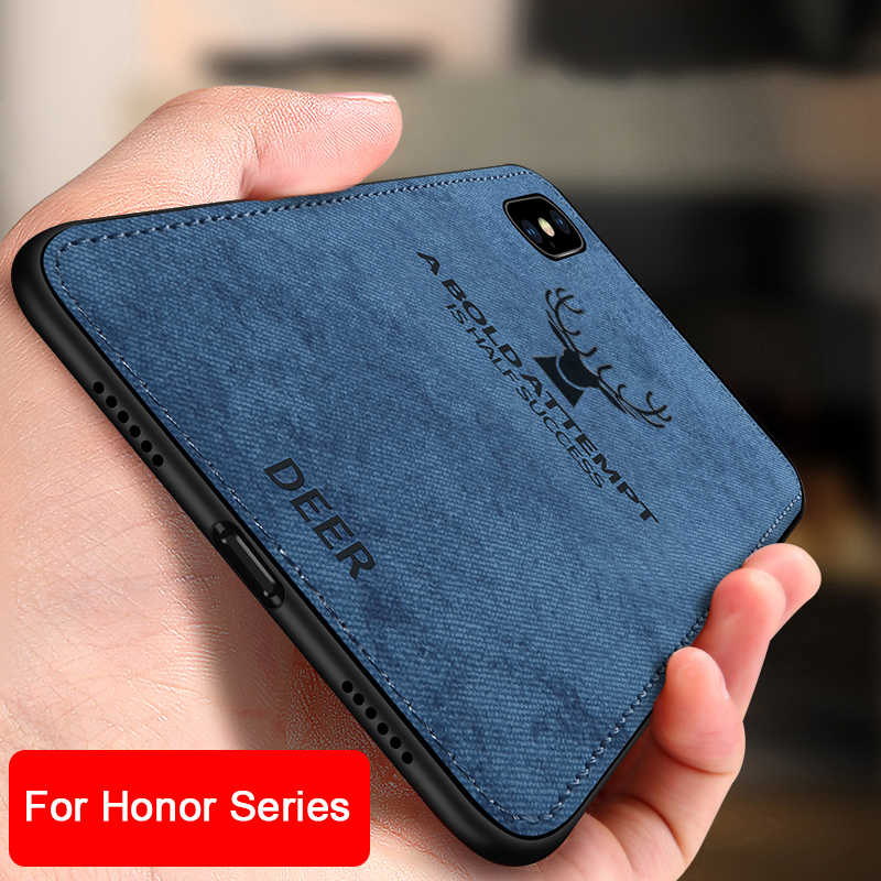 Fabric phone Cloth case on honor 10 9 lite light case for huawei honor 8c 8x cover honer 8 lite 9 life 8lite 9i 8 x note 10 play