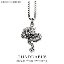 Dragon Link Necklace,2017 Brand New Ts Chain Fashion Jewelry Thomas Style Rebel Cross Bijoux Gift For Men & Women Friend(China)
